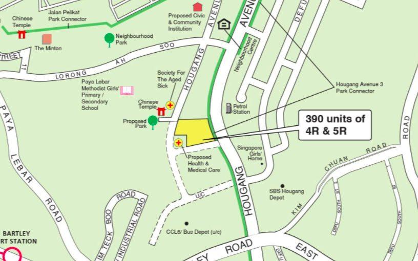 November 2021 Hougang Avenue 3 BTO map